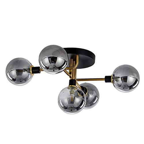 LYDIAMOON LED Kronleuchter Lüster 5 Licht Kronleuchter Raumbeleuchtung Galvanisierung Kupfer Glas Kreativ Kronleuchter G9*5,2