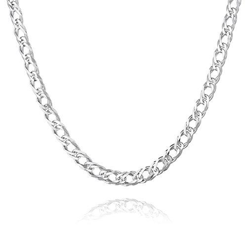 STERLL Herren Hals-Kette Silber 925 55 cm Ohne Anhänger Geschenkverpackung Valentinstag Geschenk für