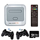 Super Console X PRO Game Consoles with 256GB Built-in 50,000+ Games,4K TV HDMI Output Classic Video Game Console for Adults,Support PSP/PS1/DC,2 Controllers,Best Gifts for Kids (XPRO-256GB)