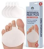 Dr. Frederick's Original Metatarsal Pads Plus - 4 Pieces - 50% More Cushioning - Foot Pads for Women & Men