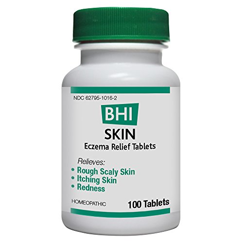 BHI Skin Eczema Relief Natural Safe Homeopathic Relief  100 Tablets