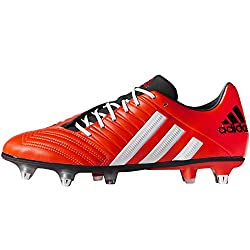 Red, White & Black Adidas Incurza XT Soft Ground Rugby Boot