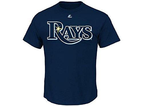 Majestic Adult MLB Replica Crewneck Team Jersey Tampa Bay Rays XL