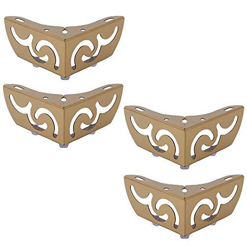 YXB Metalen meubels voeten* 4, meubilair statief salontafel, gouden been DIY meubels vervanging/matras accessoires vervangen, geschikt voor bed, kast, tafel en andere meubels vergoeding