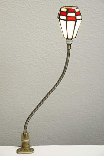 LED Klemmleuchte Klemmlampe Carmela Tiffany-Klemmleuchte Tiffany-Klemmlampe aus echtem Tiffany-Glas Handarbeit