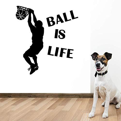 Diy baloncesto pegatinas de pared extraíbles pegatinas de pared wallpaper sala de estar dormitorio extraíble pegatinas de pared impermeables otro color 43x47cm