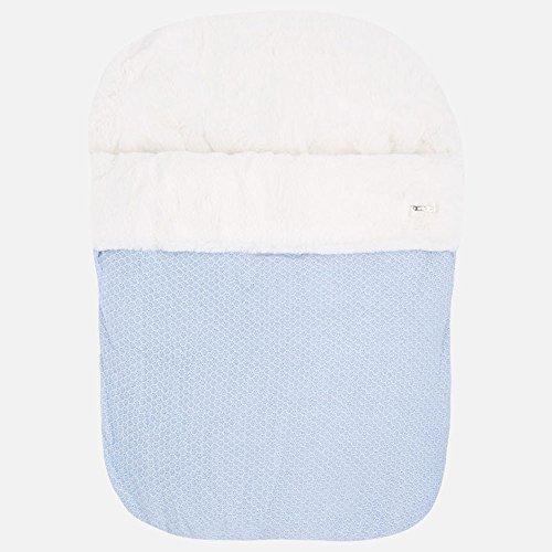 Saco de bebé en tricotosa para sillas (Azul)