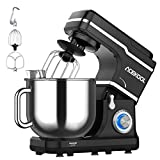 Stand Mixer, 10-Speed 7.5QT Electric Mixer Tilt-Head Kitchen Food Mixer for Baking&Cake, with Stainless Steel Bowl, Whisk, Dough Hook, Beater, Splash Guard (660W)BLACK (Renewed)