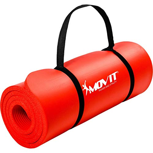 Movit XXL Pilates Gymnastikmatte, Yogamatte, phthalatfrei, SGS geprüft, 190 x 100 x 1,5cm, Rot
