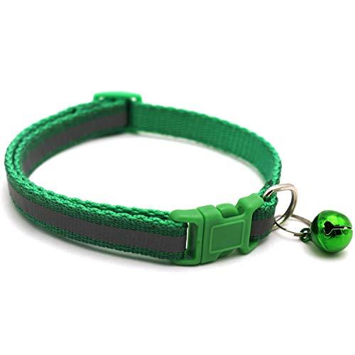 Yuan Ou Collar de Perro Collar para Mascotas Collar de Campana Reflectante para Mascotas Tamaño Ajustable Adecuado para Gatos y Perros pequeños Suministros para Mascotas Collares básicos