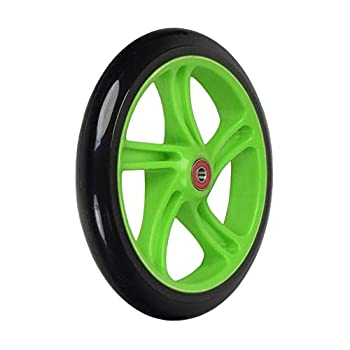 AlveyTech 200 mm Wheel for The Razor A5 Lux & Carbon Lux Kick Scooter  Black Wheel Green Hub
