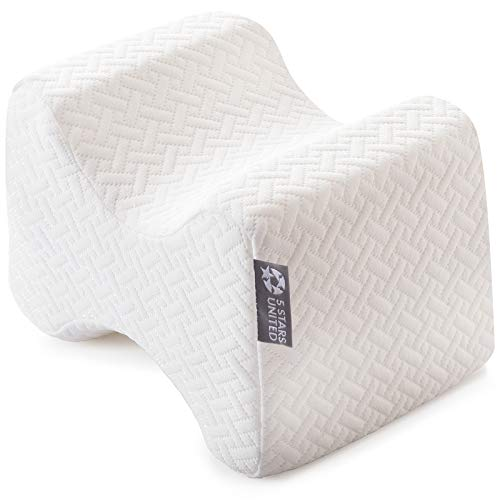 Knee Pillow for Side Sleepers - 100% Memory Foam Wedge Contour - Leg Pillows for Sleeping - Spacer Cushion for Spine Alignment, Back Pain, Pregnancy Support - Sciatica, Hip, Joint, Surgery Pain Relief