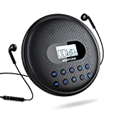Portable CD Player with Dual Stereo Speakers, ARAFUNA Rechargeable Walkman CD Player for Car, Anti-Skip Protection...