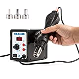 CO-Z 858D Rework Station, SMD Hot Air Rework Soldering Station with Heat Gun Set, LED Digital Temperature Control, Electric Desoldering Welding Tool for Electronics Repairing