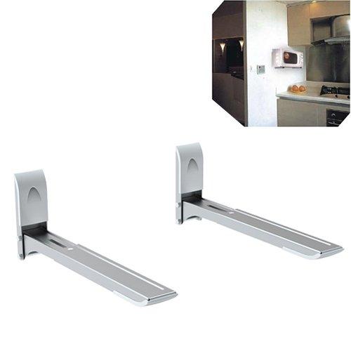 Universal Wandhalterung Halter Wandhalter für Mikrowelle Grill Grillofen/Microwelle Ausziehbar mit Montagematerial / 35 kg *DURCHDACHT*