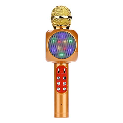 ELK Bluetooth Karaoke Microphone, Handheld Wireless Karaoke Player Compatible with Iphone Android Smartphone for Home KTV/Outdoor Party/Music Playing/Kids Singing,C