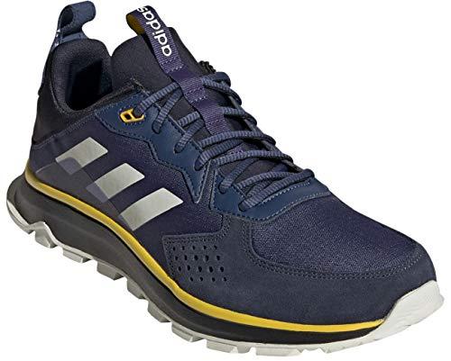 adidas Men's Response Trail Cloudfoam Regular Fit Running Sneakers Shoes, Tech Indigo/orbit Grey/legend Ink, 10.5 M US