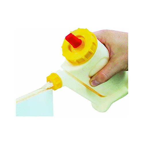 Original GluBot Leimflasche von FastCap – Perfekt für sauberes & präzises Auftragen von Holzleim - Leimspender (ca. 500 ml) inkl. feinen & breiten Düse sowie einer Führungsklammer