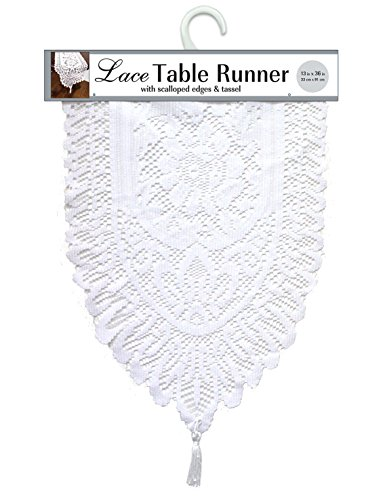 Ritz Lace Table Cloth Runner, 13 X 54, White