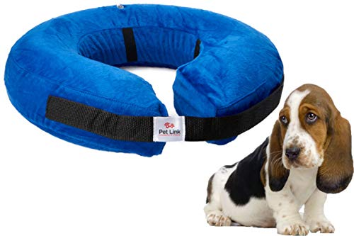 Inflatable Dog Collar, Recovery Cone, After Pet Surgery, Prevent Dogs from Biting & Scratching,...