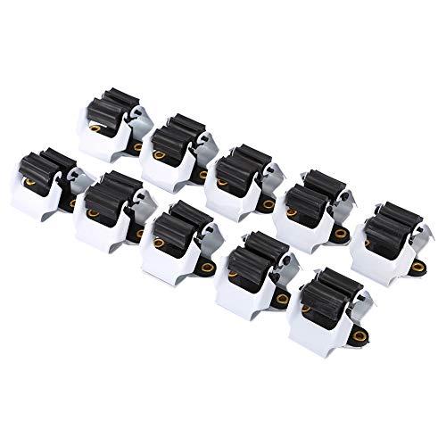 Jershal Wandmontage-Werkzeug - 10 x Wandmontage-Werkzeug Mopphalter Rack Besen Regenschirm Stand Clips Zangen Organizer