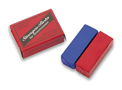 Pasta Azul y Roja 3 Claveles para asentador de cuero o madera de balsa