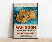 Van Gogh ヴァンゴッホ 油絵テイトギャラリー有名な絵画インテリアアートパネルワーク展ポスターヴィンテージ抽象壁アートパネル家の装飾キャンバスプリント40x60cm絵画 インテリア フレームなし painting インテリア、玄関、リビングと寝室の飾りに最高H47
