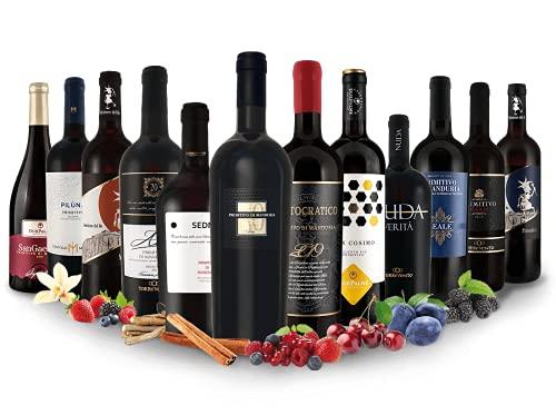 Primitivo - Entdeckerpaket | 12 Rotweine aus Italien | (12x 0,75l)