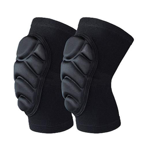 Gifftiy Knie Padsprofessional Sport Verpleging Kalf Leggings Beschermende Gear Ademende Knie Sock Verdikking Kniebeschermer Kneepad Black_M_China