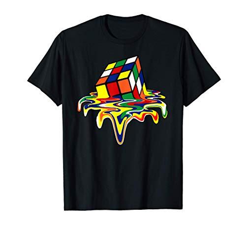 Rubic Rubix Rubik cubo mágico colores impresionante gráfico Camiseta