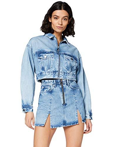 Pepe Jeans Rogue Giacca in Jeans, Blu (000denim 000), Medium Donna