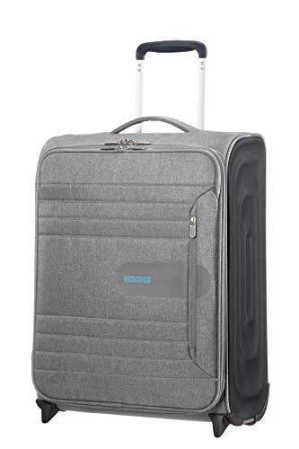 American Tourister Sonicsurfer - Upright 55/20 Equipaje de mano, 55 cm, 43 liters, Gris (Metal Grey)