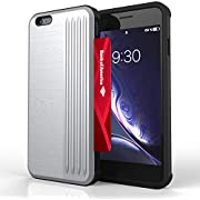 iPhone 6 Case | iPhone 6S Case | Phone Wallet Case with Card Holder Slot | Kick Stand | Military Grade | 10ft. Drop Tested Shockproof Case for Women & Men | for iPhone 6/6S - Silver