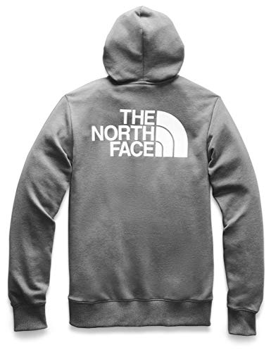 The North Face Men's Half Dome Full Zip Hoodie, TNF Medium Grey Heather/TNF White, L