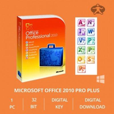 Microsoft Office Professional plus 2010 OEM Key 32/64 Bit - Original Lizenz Vollversion - NEU
