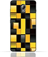 Lenovo Vibe P1 TPU Silicone Case With Yellow And Black Blocks Pattern Design