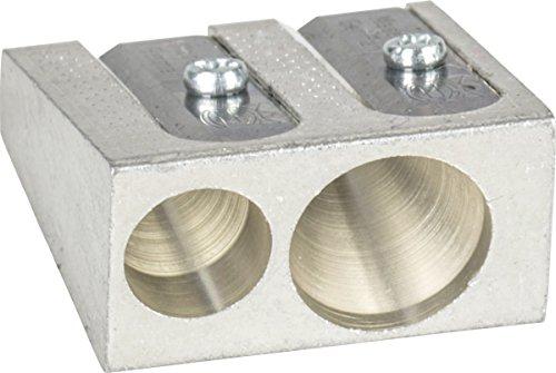 Brunnen 1029897 Spitzer aus Metall, Doppelspitzer, 2,5 x 2,5 x1,3 cm, für Stifte bis 11 mm Durchmesser)