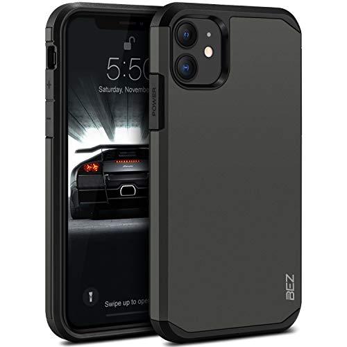 BEZ Cover iPhone 11, Custodia per iPhone 11 Rigida Protettiva con Impact [Antiurto, Assorbimento-Urto] Bumper Protezione da Cadute e Urti Posteriore, Grigio