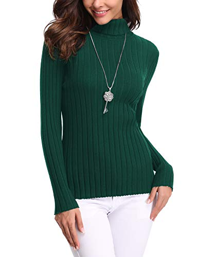 Abollria Suéter Elegante Cuello Alto Mujer Basic