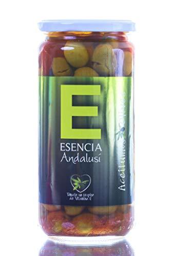 Aceituna Receta de la Abuela (Verdial Aliñada Esencia) Andalusí Categoría Gourmet. 700 grs.