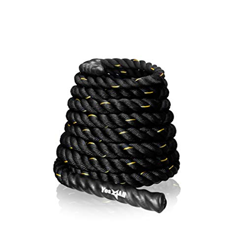 Yes4All Battle Rope 1.5/2 Inch Diameter Poly Dacron 30