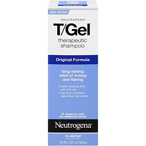 Neutrogena T/Gel Therapeutic Shampoo Original Formula 16 oz (Packs of 2)