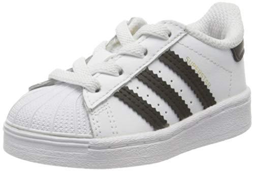 adidas Superstar El I, Scarpe da Ginnastica Unisex-Bambini, Ftwr White/Core Black/Ftwr White, 20 EU