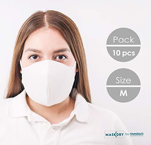 Pack 10 mascarillas higiénicas lavables 2 gomas. Talla M. Fabricadas en España Hasta 5 lavados.