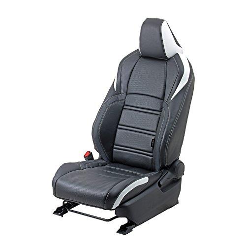 grace(グレイス) シートカバー エクスクルーシブライン TYPE C-HR ハイブリッド車用 ボーダー ブラック×ホワイト GSC-EXT140ABOBKWH