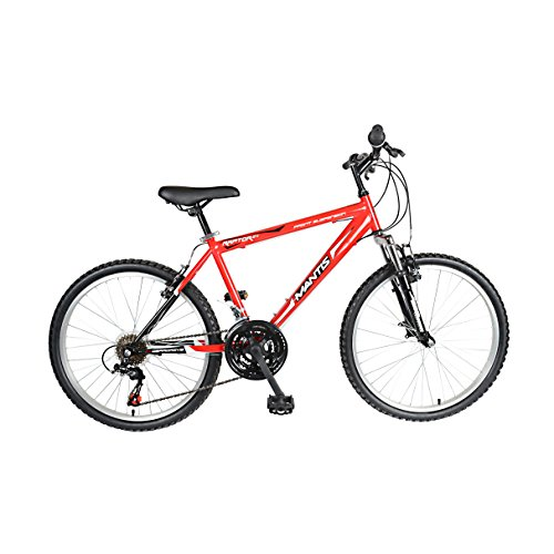 Mantis Raptor Hardtail Mountain Bike, 24 inch Wheels, 16 inch Frame, Boys' Bike, Red