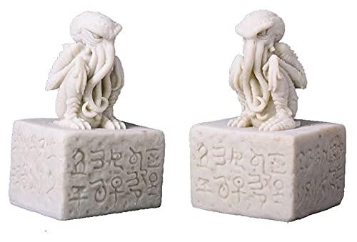 GAOYINMEI Schreibtisch-Skulptur Statue Octopus Skulptur Cthulhu-Statue Handwerk Form Dekoration Böser Geist Cthulhu Mythologie Figuren Oktopus Horror Handwerk Heimdekoration