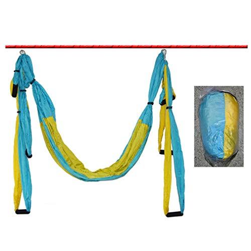 YXDS Hamaca de Yoga 6 Asas Hamaca de Techo de Yoga aérea antigravedad Columpio Volador Trapecio Dispositivo de inversión de Yoga Gimnasio en casa Cinturón Colgante