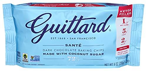 GUITTARD 72% Sante Dark Chocolate Baking Chips, 9 OZ