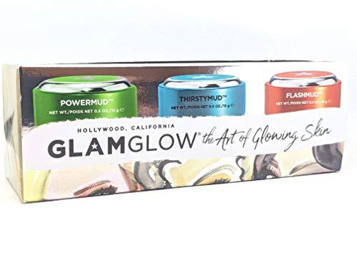 GlamGlow the Art of Glowing Skin PowderMud ThirstyMud FlashMud Trio 0.5oz/15ml each
